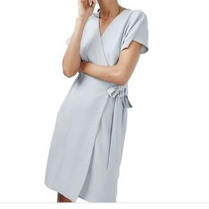 Topshop Midi Crepe Wrap Dress